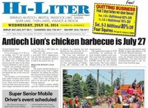 Illinois Hi-Liter for 7/16/14