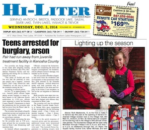 Illinois Hi-Liter 12/3/14