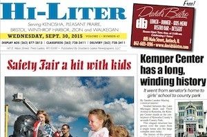Kenosha Hi-Liter for 9/30/15