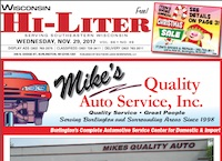 Wisconsin Hi-Liter for 11/29/2017
