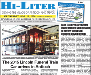 Illinois HiLiter for 8/22/2018