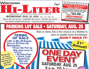 Wisconsin HiLiter for 8/22/2018
