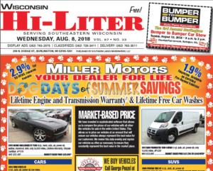 Wisconsin HiLiter for 8/8/2018