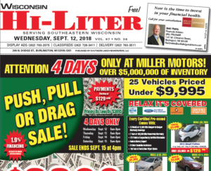 Wisconsin HiLiter for 9/12/2018