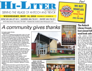 Illinois HiLiter for 11/14/2018