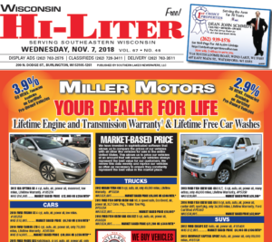 Wisconsin HiLiter for 11/7/2018