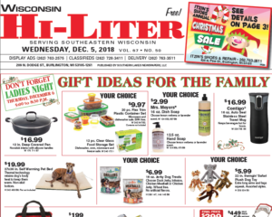 Wisconsin HiLiter for 12/5/2018