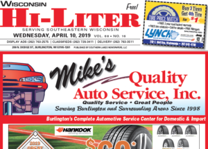Wisconsin HiLiter for 4/10/2019