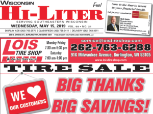 Wisconsin HiLiter for 5/15/2019