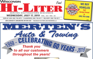 Wisconsin HiLiter for 7/17/2019